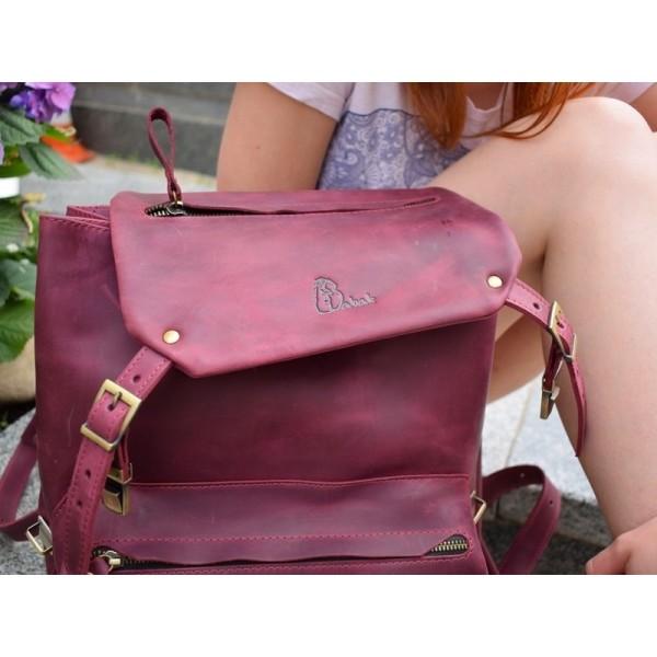 Рюкзак кожаный Trip Marsala