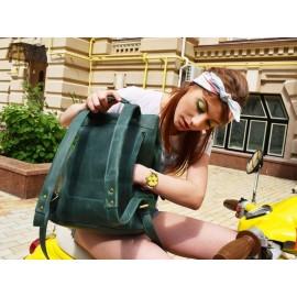 Рюкзак кожаный Trip Green