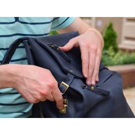 Рюкзак кожаный Trip Blue