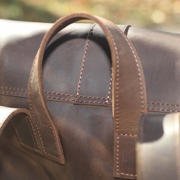 Рюкзак кожаный ROCK Brown