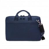 """Кожаная сумка для ноутбука 13"""" синяя"""