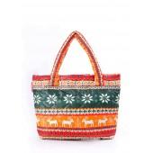 Дутая сумка с оленями