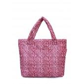 Дутая сумка с вязкой