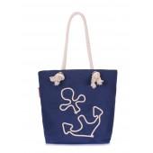 Коттоновая сумка с якорем