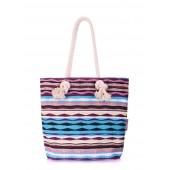 Пляжная вельветовая сумка в полоску