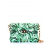 Кожаная сумочка-клатч с цепочкой