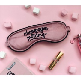 Маска для сна кофейно-розовая Champagne Morning